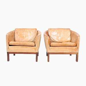Vintage Lounge Chairs by Illum Wikkelsø for Holger Christensen, Set of 2