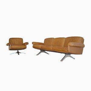 Schweizer DS 31 Drei-Sitzer Sofa & Sessel von de Sede, 1970er