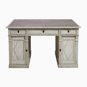 Antiker Schwedischer Freistehender Schreibtisch