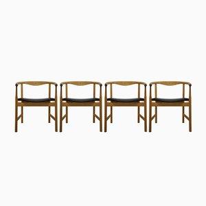JH 203 Chairs by Hans J. Wegner for Johannes Hansen Møbelsnedkeri, 1975, Set of 4
