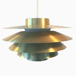 Danish Verona Brass Pendant by Svend Middelboe for Nordisk Solar, 1960