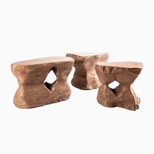 Tavolino da caffè in bronzo di Studio Superego, set di 3