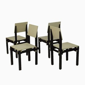 Military Chairs by Gerrit Rietveld, 1930s, Set of 4