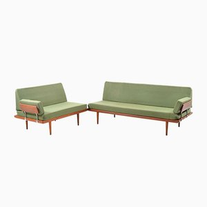Minerva Sofa Set by Peter Hvidt & Orla Mølgaard Nielsen for France & Søn, 1960s