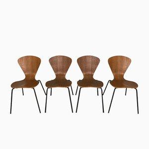 Modell 3204 Stühle von Arne Jacobsen für Fritz Hansen, 4er Set