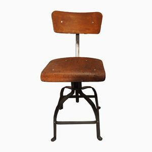 Industrial Patented Workshop Chair from Bienaise, 1950