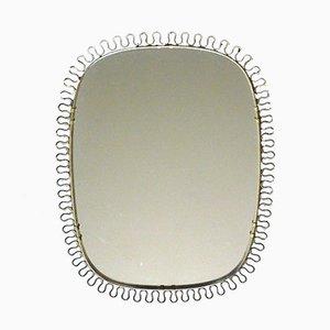 Sculptural Brass Wall Mirror by Josef Frank for Svenskt Tenn, 1950s