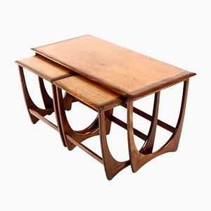 Mid-Century Teak and Mahogany Nesting Tables from G-Plan, 1960s