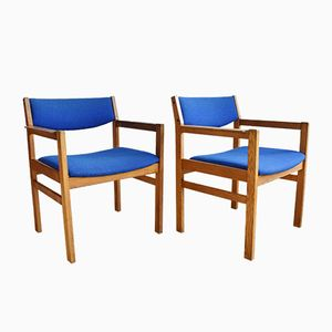 Mid-Century Danish Armchairs by Børge Mogensen for FDB Mobler, 1970s, Set of 2