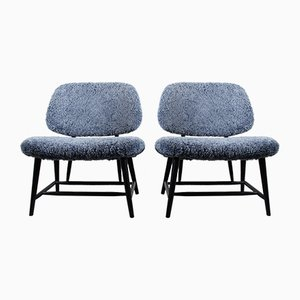 Vintage Te-Ve Easy Chairs by Alf Svensson for Ljungs Industrier, Set of 2