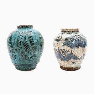 Vasi antichi in stile persiano in ceramica, set di 2