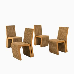 Easy Edges Chairs by Frank Gehry for Vitra, 2000, Set of 4