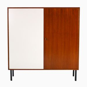 Vintage Nussholz Highboard, 1960er