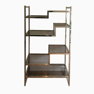 Vintage Metal and Glass Shelving System