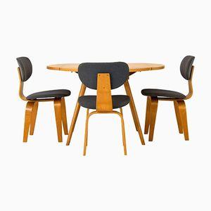 Table à Rabat avec 3 Chaises par Cees Braakman pour Pastoe