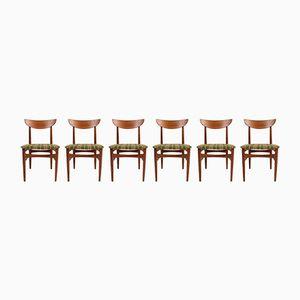 Mid-Century Stühle aus Solidem Teak von A/S Skovby Møbelfabrik, 6er Set