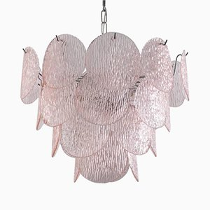Pink Glass Chandelier Buy ceiling lights for vistosi at pamono chandelier with pink murano glass shells from vistosi 1970s audiocablefo