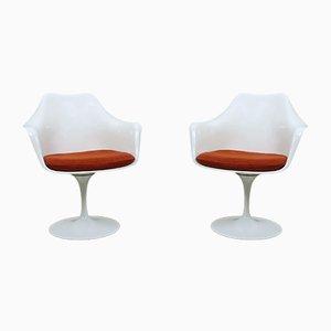 Amerikanische Tulip Armlehnstühle von Eero Saarinen für Knoll International, 1950er, 2er Set