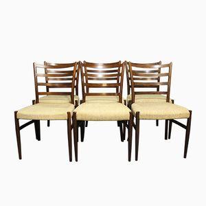 Palisander Esszimmerstühle von N. O. Møller, 1960er, 6er Set