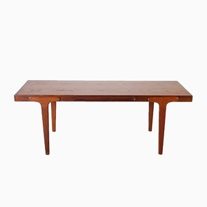Vintage Teak Coffee Table with Detailed Sides