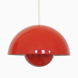 Red Flowerpot Pendant Light by Verner Panton for Louis Poulsen, 1960s