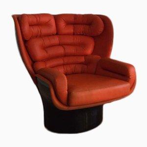 Orange Elda Chair by Joe Columbo for Comfort, 1960s