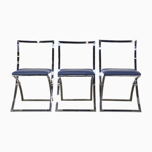 Model Luisa Folding Chairs by Marcello Cuneo for Mobel Italia, Set of 3