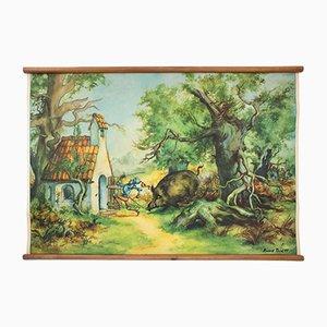 """Cartellone educativo sulla favola de """"Il prode piccolo sarto"""" di H. Rusch, 1954"""