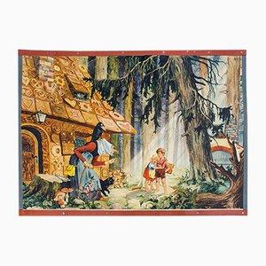 """Cartellone educativo sulla favola di """"Hansel e Gretel"""", 1931"""