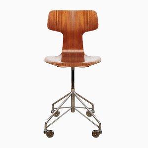 Dänischer Mid-Century 3103 Bürostuhl von Arne Jacobsen für Fritz Hansen