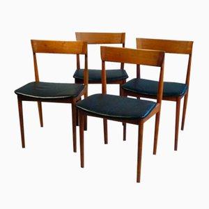 Modell 39 Esszimmerstühle von Henry Rosengren Hansen für Brande Møbelindustri, 1960er, 4er Set
