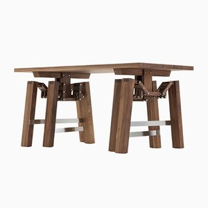 Nussholz Walking Table von Wouter Scheublin