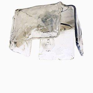Flush Mount Murano Glass Wall Sconce from J.T. Kalmar, 1960s