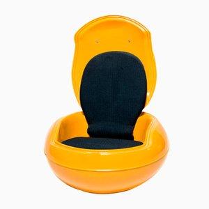 Chaise de Jardin Egg Vintage Jaune par Peter Ghyczy pour Reuter