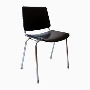 Vintage Black Skai Chair from Mauser Werke
