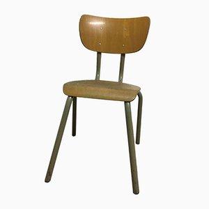Chaise d'Ecolier Industrielle Vintage en Bois