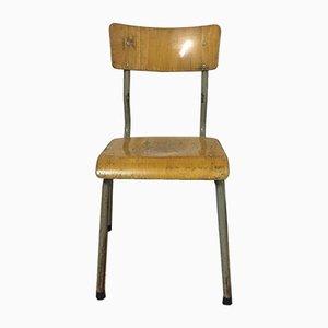 Chaise d'Ecolier Vintage en Bois
