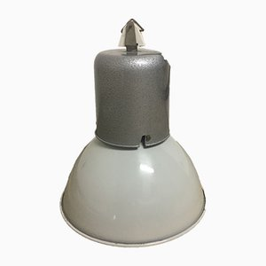 French Industrial Enamel & Aluminum Factory Lamp