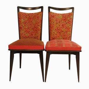 Vintage Side Chairs Upholstered in Kenzo Fabric, Set of 2