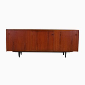 Mid-Century Danish Teak Sideboard with 3 Sliding Doors, 1960s