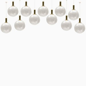 Bubble Glass Ball Lamps from Doria, 1960s, Set of 11