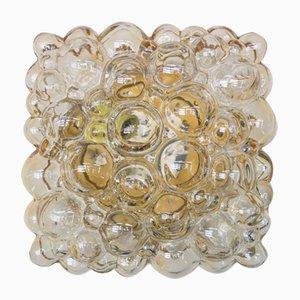 Applique rettangolare a bolle in vetro di Helena Tynell per Limburg, anni '60