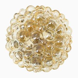 Applique dorata in vetro a bolle di Helena Tynell per Limburg, anni '60