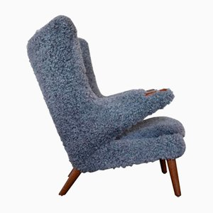 Vintage Papa Bear Easy Chair by Hans J. Wegner for A.P. Stolen