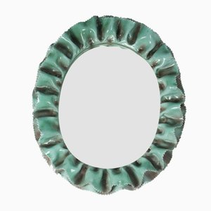 Italian Ceramic Wall Mirror from La Farnesiana, 1950s