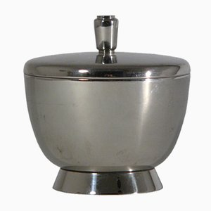 Silver-Plated Sugar Pot by Gio Ponti for Fratelli Calderoni, 1930s