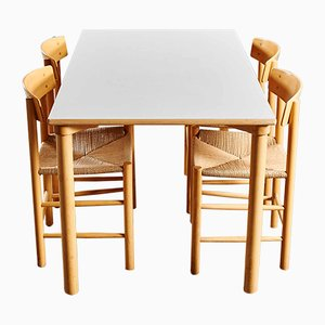 J-39 Dining Set by Borge Mogensen for FDB, 1950s