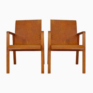 Vintage Model 403 Hallway Chairs by Alvar Aalto for Huonekalu-ja Rakennustyöte, Set of 2
