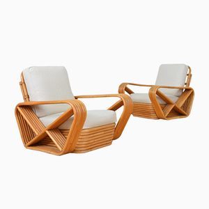 Vintage Bamboo Lounge Chairs, Set of 2