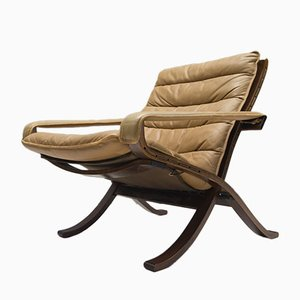 Mid-Century Leather Folding Chair by Ingmar Relling for Westnofa, 1960s